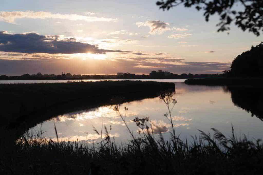 Die Geltinger Bucht im Sonnenuntergang