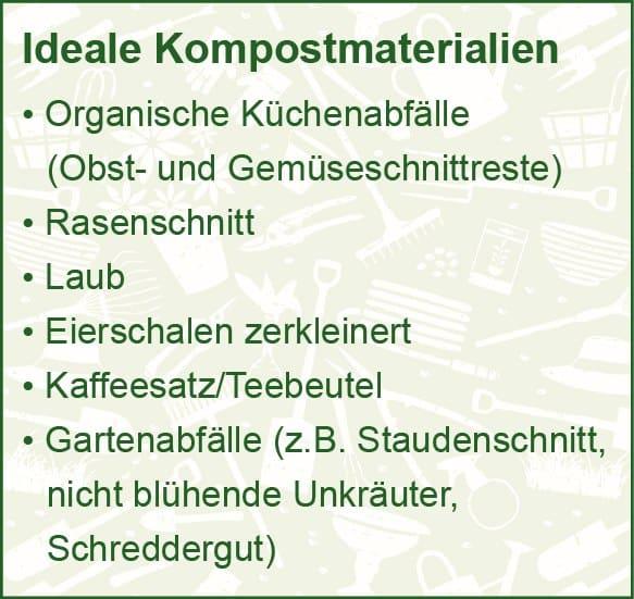 Materialien für den Kompost im Garten.