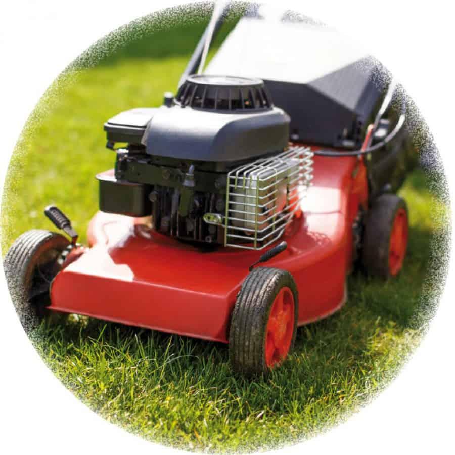 Im Herbst endet die Gartensaison und der Rasen wird ein letzes Mal gemäht.