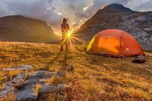 Wildes Zelten ist in Norwegen erlaubt.