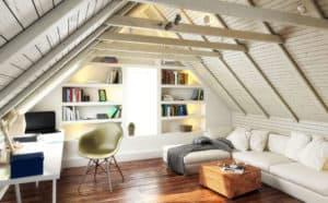 Unterm Dach entsteht neuer Wohnraum.