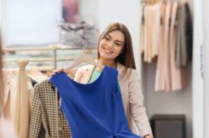 Ein neues Kleid als Belohnung motiviert, die guten Vorsätze auch umzusetzen.