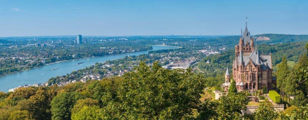 Schloss Drachenburg Bonn Panorama, Rhein (Spontanreise)