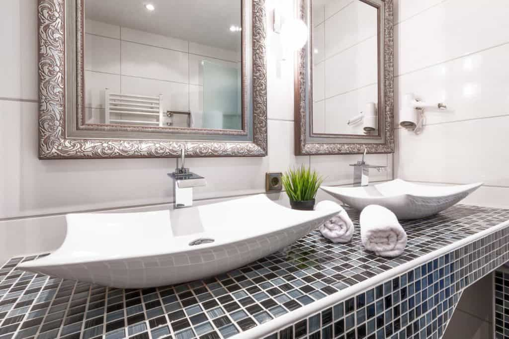 Doppelwaschbecken Waschtisch Design im Wohnbad