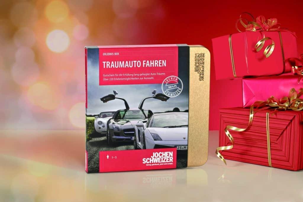 Traumauto fahren - Geschenkgutschein mit Verpackung (edle Geschenke)