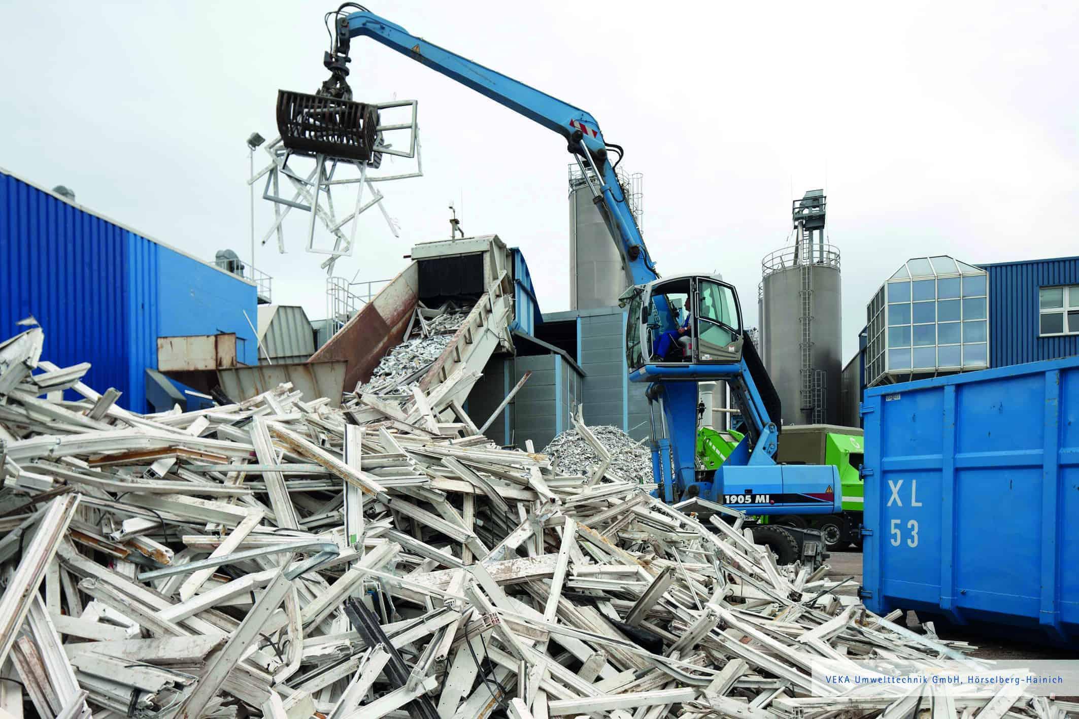 Kunststofffenster werden nach dem Fenstertausch recycelt